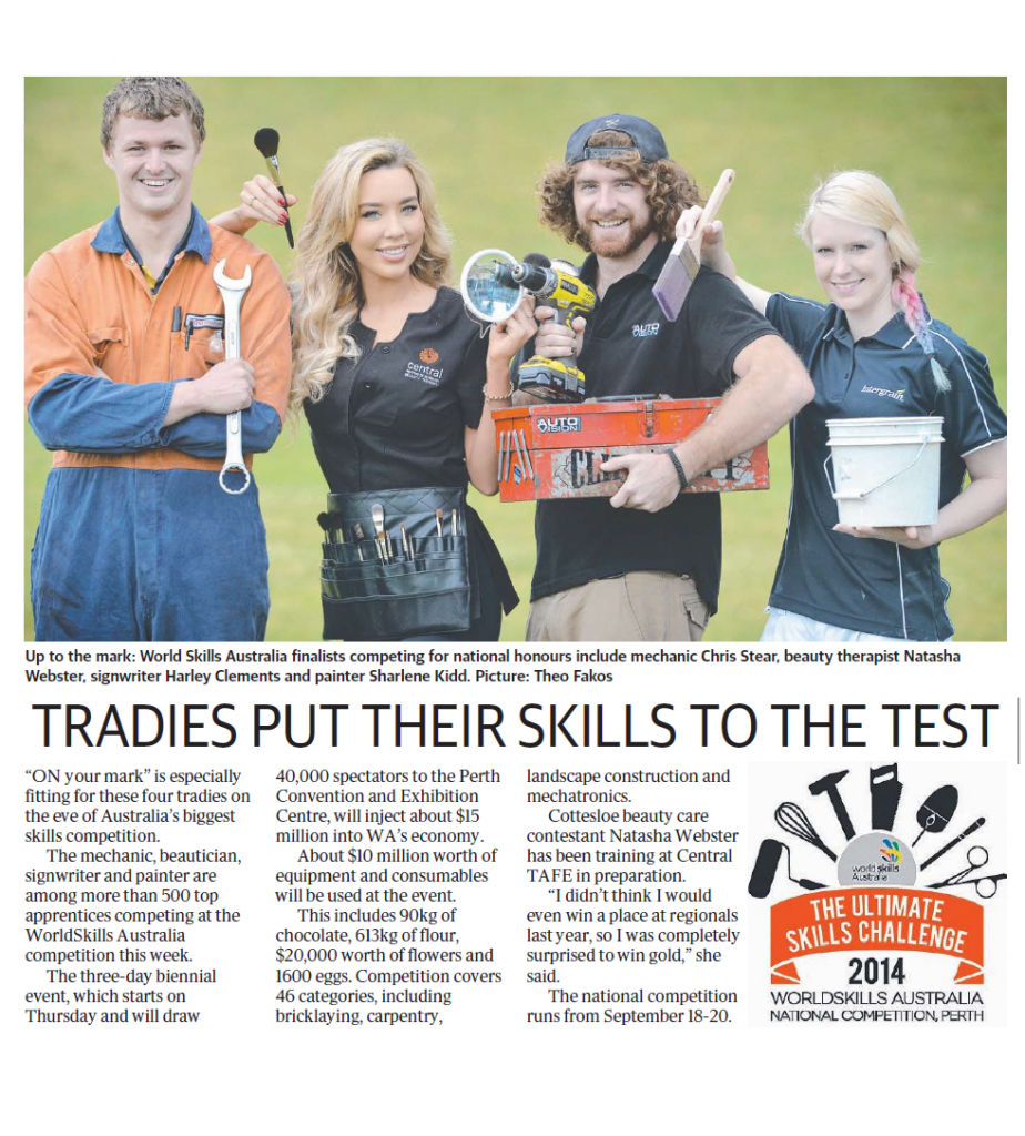 Chris in The Sunday Times advertising the National WorldSkills Competition in September